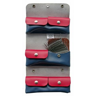 6pkt Leather Comb Holder