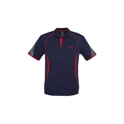 Lister Polo Shirt - Navy/Red